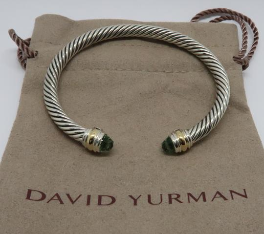 David Yurman 5mm cable bracelet with gold trim large size Image 1