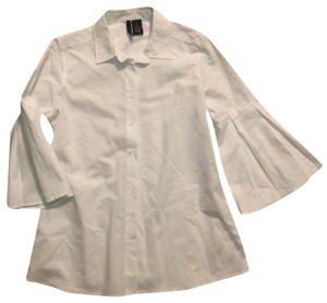New Directions Button Down Shirt White