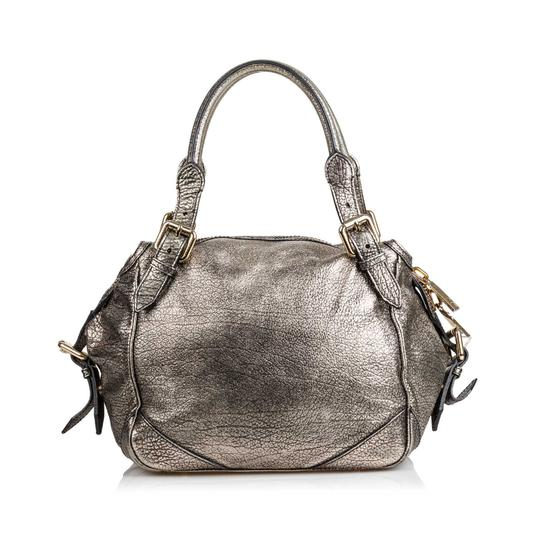 Burberry Ff9bush003 Vintage Leather Shoulder Bag Image 2
