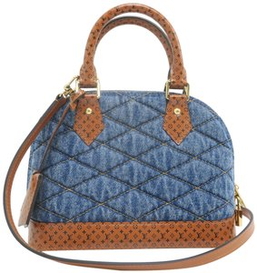 Louis Vuitton Lv Alma Bb Canvas Satchel in Dark Denim