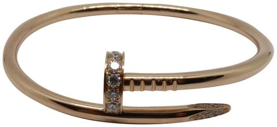 Preload https://item2.tradesy.com/images/cartier-18k-pink-gold-and-diamond-juste-un-clou-nail-size-16-bracelet-25949071-0-1.jpg?width=440&height=440