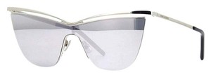 Saint Laurent NEW SAINT LAURENT NEW WAVE SL 249-003 SILVER MIRROR SUNGLASSES