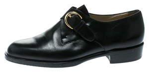 Bally Leather Rubber Black Flats