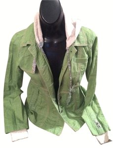 Free People Green/Light Grey/Multi Jacket