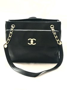 Chanel Tote Cc Lambskin Shoulder Bag