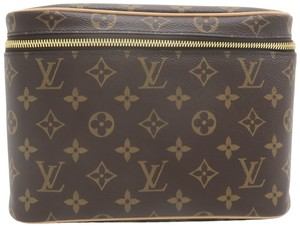 Louis Vuitton Beauty Case Nice Brown Monogram Canvas Cosmetic Bag