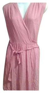 Fossil short dress Pink.white on Tradesy