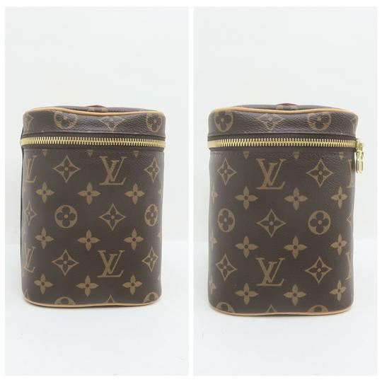 Louis Vuitton Beauty Case Nice Cosmetic Brown Monogram Canvas Image 4