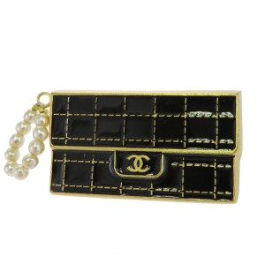 Chanel Gold Cc Bag Motif Gold-tone France Brooch/Pin