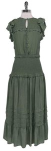 green Maxi Dress by Sea Vintage Inspired Ruffle