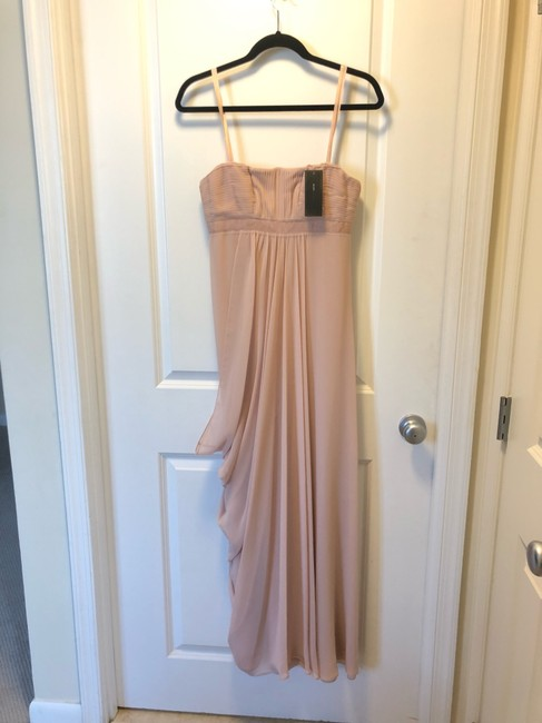 Item - Bare Pink Polyester Strapless Feminine Bridesmaid/Mob Dress Size 2 (XS)