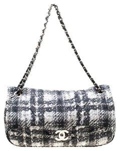 Chanel Nylon Quilted Tweed Shoulder Bag