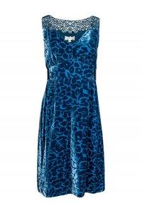 Moulinette Soeurs Teal Patterned Dress