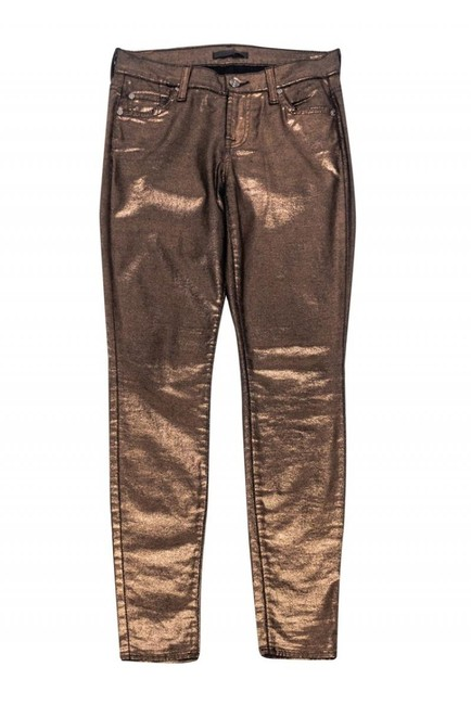 For All Mankind Metallic Rose Skinny Jeans Image 2
