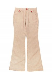 Marc Jacobs Casual Pinstripe Highwaisted Flare Pants cream