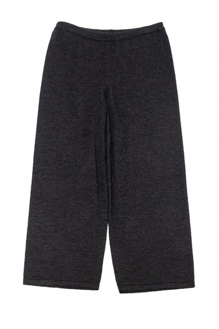 Eileen Fisher Casual Grey Cropped Wide Leg Pants Image 2