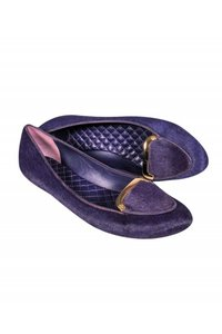Tory Burch Loafers Calf Hair purple Pumps