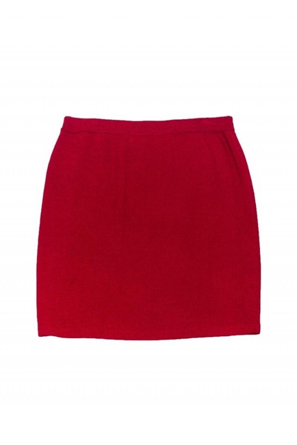 St. John Evening Maroon Knit Skirt Image 1