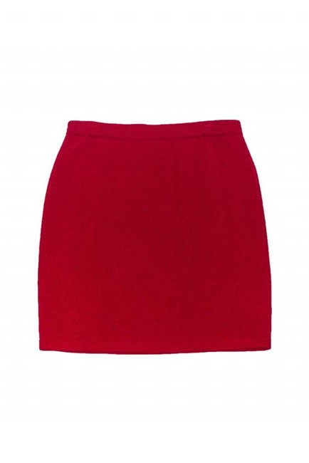 St. John Evening Maroon Knit Skirt Image 2