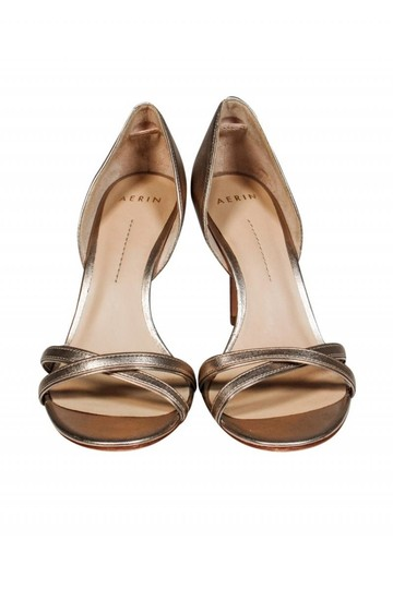 Aerin Open gold Pumps Image 1