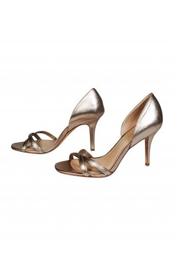 Aerin Open gold Pumps Image 2