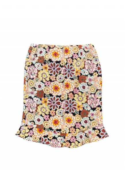 Nanette Lepore Multicolored Floral Embroidered Skirt Image 1