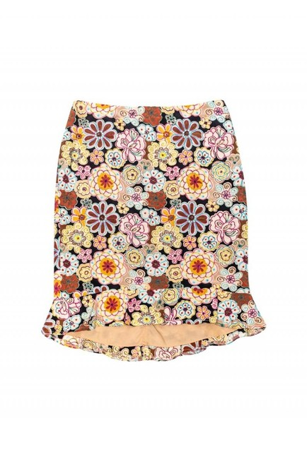 Nanette Lepore Multicolored Floral Embroidered Skirt Image 2