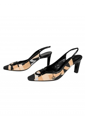 Ferragamo Slingback Black tan Pumps Image 2