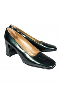 Versace Basic Gianni Deep green Pumps