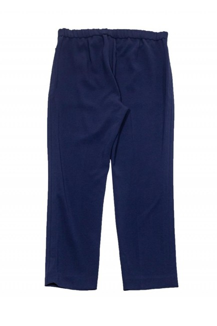 Theory Navy Tapered Trouser Pants Image 1