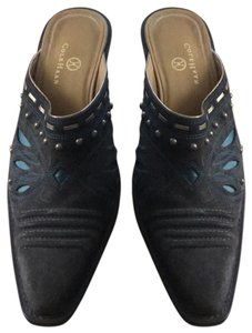 Cole Haan dark brown with blue accents Pumps