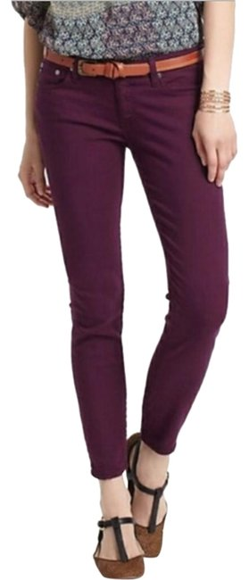 Item - Burgundy Maroon Plum Stevie Ankle Slim Leg Pants Size 2 (XS, 26)
