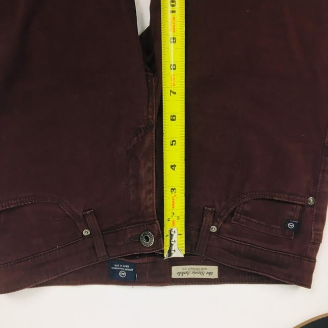 AG Adriano Goldschmied Straight Pants Burgundy Maroon Plum Image 4