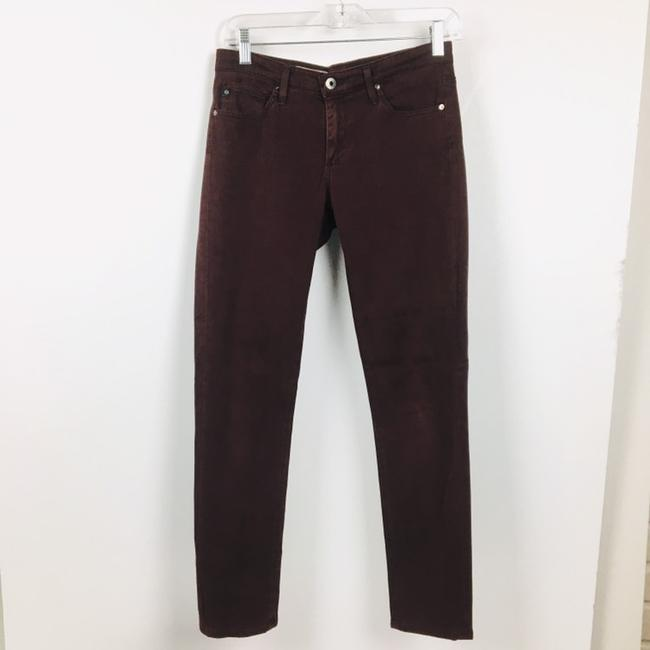 AG Adriano Goldschmied Straight Pants Burgundy Maroon Plum Image 8