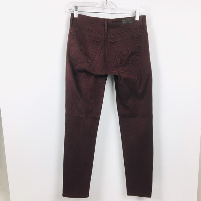 AG Adriano Goldschmied Straight Pants Burgundy Maroon Plum Image 9