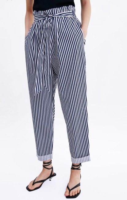 Zara Trouser Pants blue Image 1