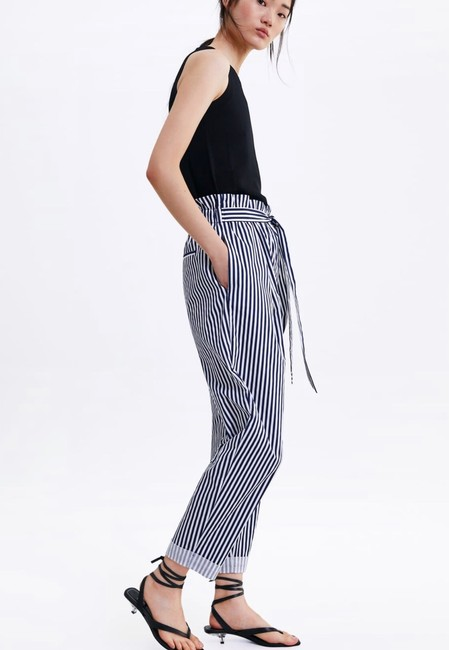 Zara Trouser Pants blue Image 2