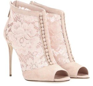 Dolce&Gabbana Designer Lace nude/ pink Boots