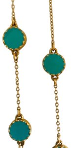 Kate Spade Kate Spade Gold Turquoise Long Necklace