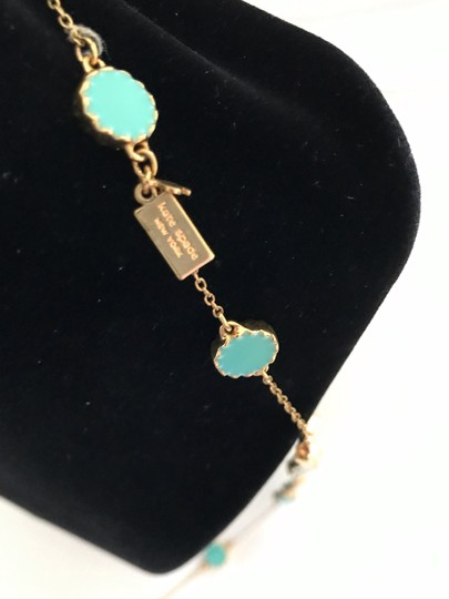 Kate Spade Kate Spade Gold Turquoise Long Necklace Image 2