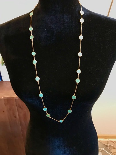 Kate Spade Kate Spade Gold Turquoise Long Necklace Image 3