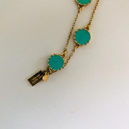 Kate Spade Kate Spade Gold Turquoise Long Necklace Image 4