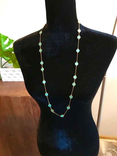 Kate Spade Kate Spade Gold Turquoise Long Necklace Image 6