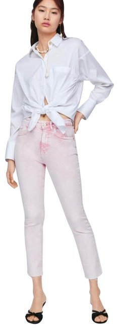 Preload https://img-static.tradesy.com/item/25950695/zara-pink-light-wash-skinny-capricropped-jeans-size-2-xs-26-0-1-650-650.jpg