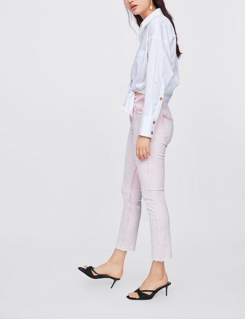 Zara Capri/Cropped Denim-Light Wash Image 1