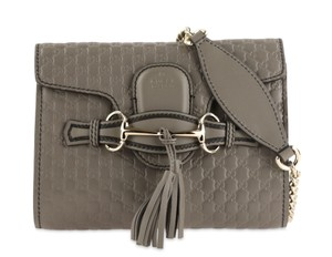 Gucci Monogram Leather Silver Hardware Cross Body Bag