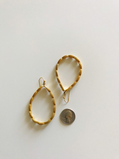 Other Large gold tone hoops Image 4