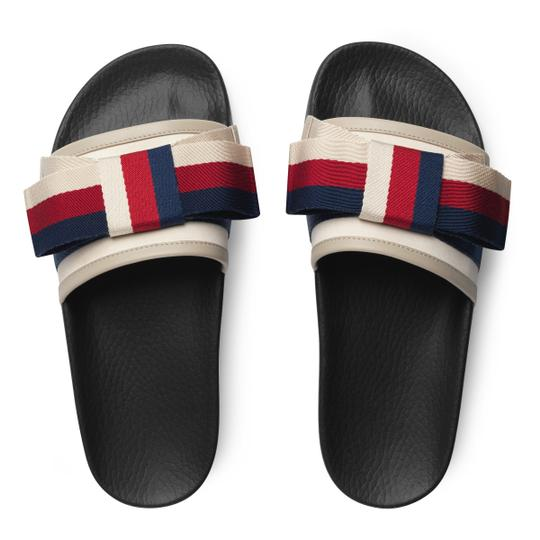 Preload https://img-static.tradesy.com/item/25950715/gucci-ivory-women-s-pursuit-web-bow-satin-slides-sandals-size-us-8-regular-m-b-0-0-540-540.jpg