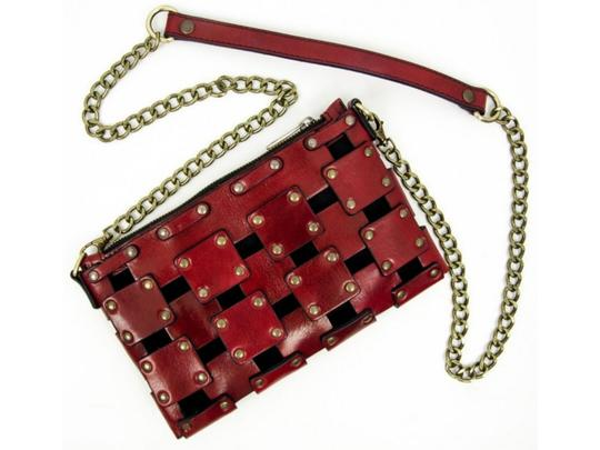 Other Women's Purse Women's Leather Leather Purse RED Clutch Image 2