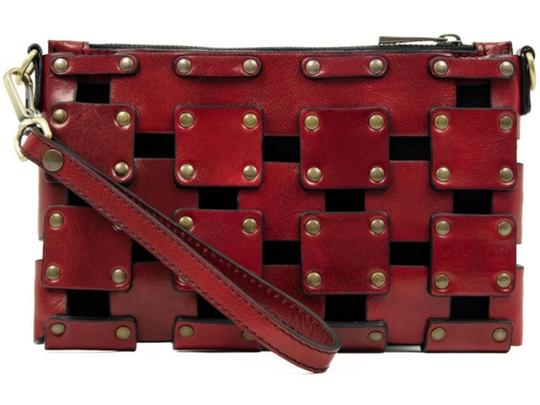 Other Women's Purse Women's Leather Leather Purse RED Clutch Image 5